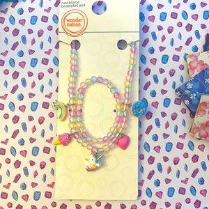 Necklace and bracelet set.